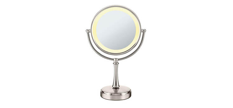 Conair 3-Way Touch Control Double-Sided Lighted Makeup Mirror