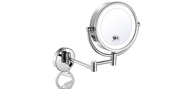 GURUN 8.5 Inch LED Lighted Wall Mount Makeup Mirrors