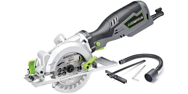 Genesis GCS545C Compact Circular Saw with Vacuum Adapter